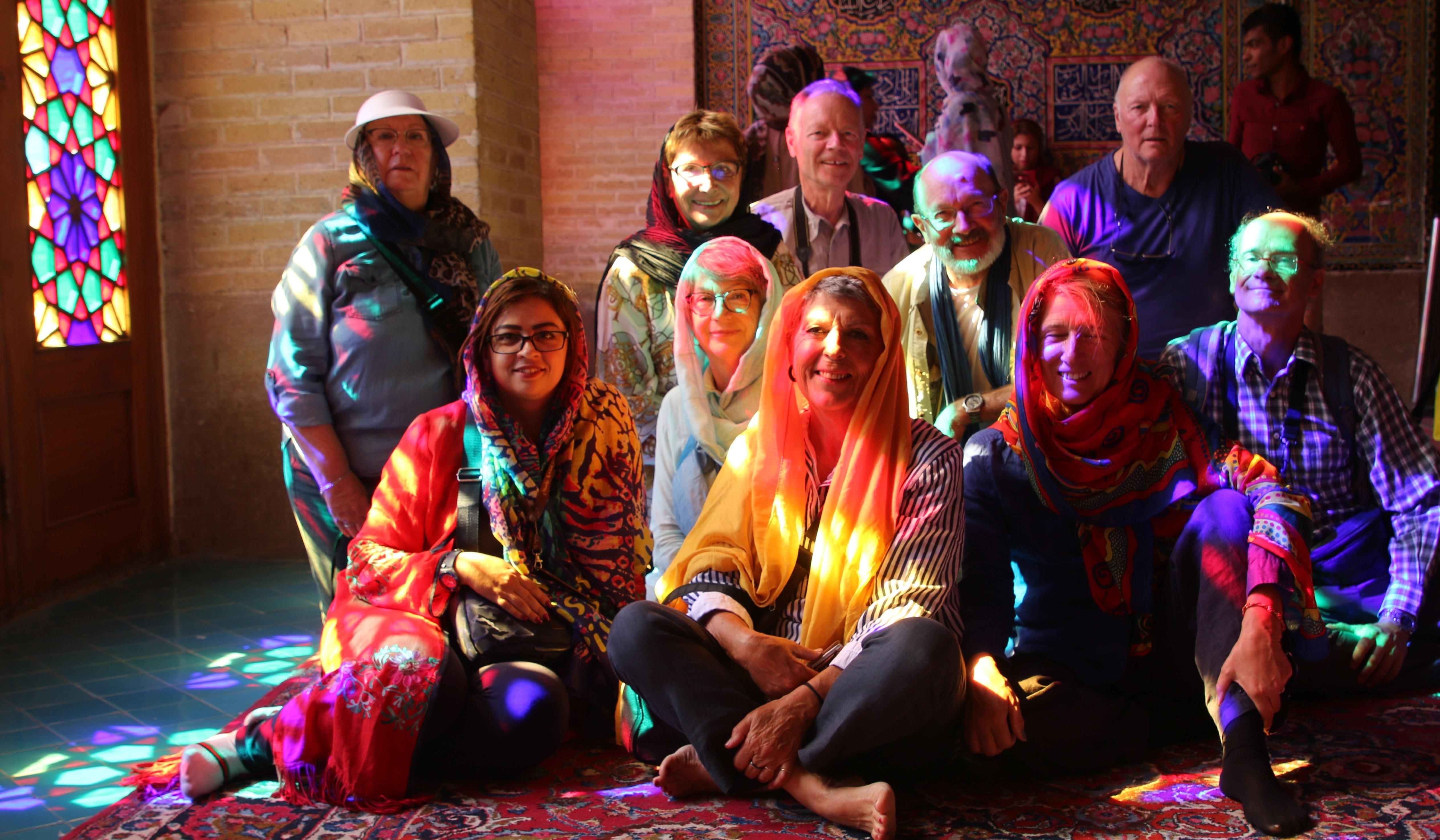 Reisegruppe in der Moschee